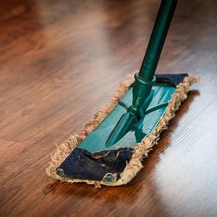 Mop your RV hardwood floors
