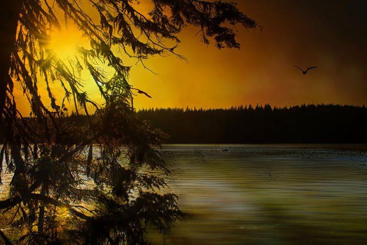 Sunset on th Lake Paulina